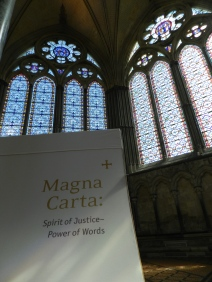 The Chapter House in Salisbury Cathedral where the Magna Carta is available for viewing...