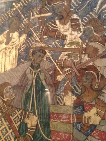 'Who will rid me of this troublesome priest?' Detail of fresco depicting the murder of Thomas Becket, Canterbury Cathedral