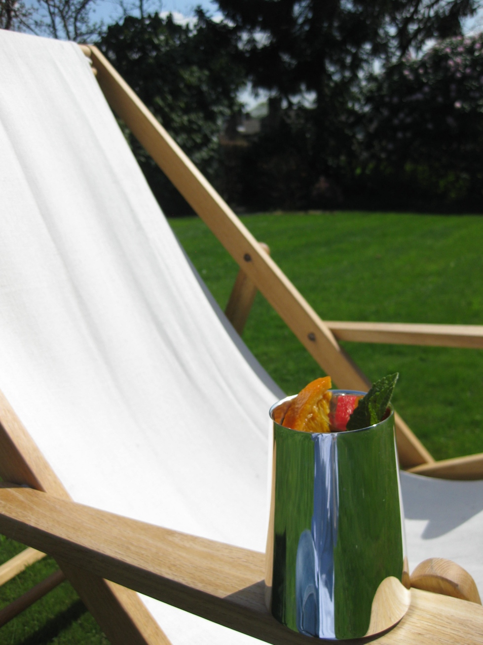 deck chair and tumbler